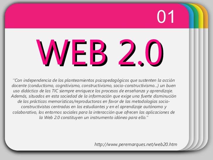 WINTER Template WEB 2.0 01 '' Con independencia de los planteamientos psicopedagógicos que sustenten la acción docente (co...