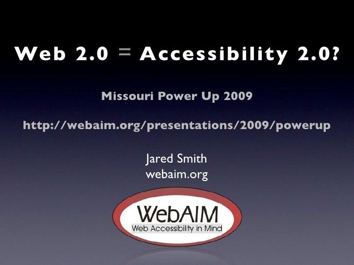 web 20 accessibility 20