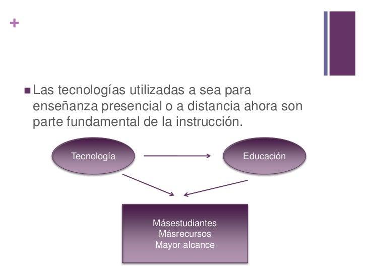 +     Lastecnologías utilizadas a sea para     enseñanza presencial o a distancia ahora son     parte fundamental de la i...