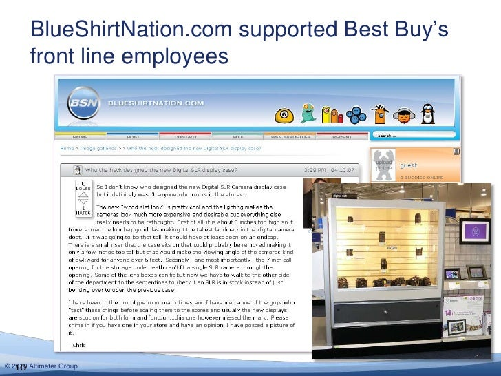 BlueShirtNation.com supported Best Buy's front line employees<br />