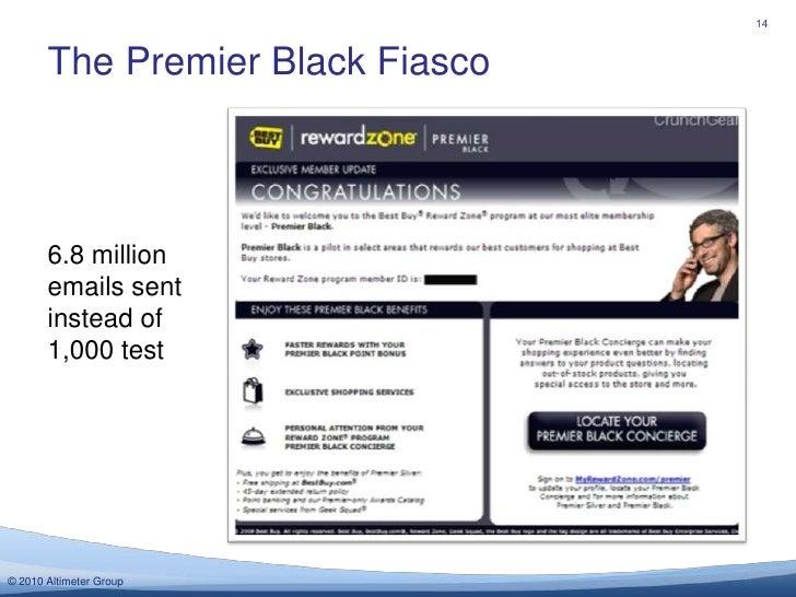 The Premier Black Fiasco<br />14<br />6.8 million emails sent instead of 1,000 test<br />