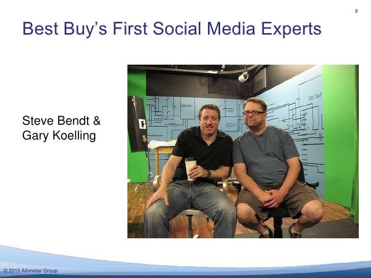 Best Buy's First Social Media Experts<br />8<br />Steve Bendt & Gary Koelling<br />
