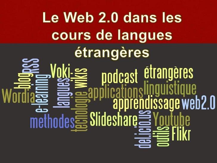Le web 2.0 dans les cours de langues étrangères