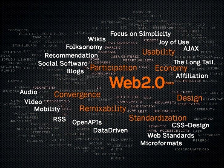 [ Généralités ]                                         [ Définition ]   Web 2.0 est un terme souvent utilisé pour    désig...