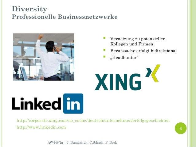 DiversityProfessionelle Businessnetzwerke                                                    Vernetzung zu potenziellen  ...