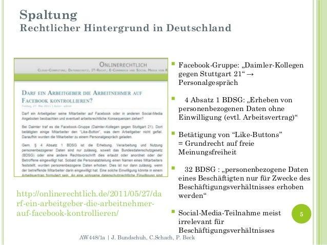 """SpaltungRechtlicher Hintergrund in Deutschland                                                  Facebook-Gruppe: """"Daimler..."""