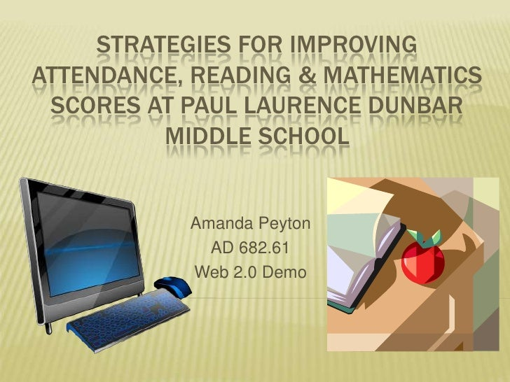 Strategies for improving attendance, reading & mathematicsscores at paullaurencedunbarmiddle school<br />Amanda Peyton<br ...