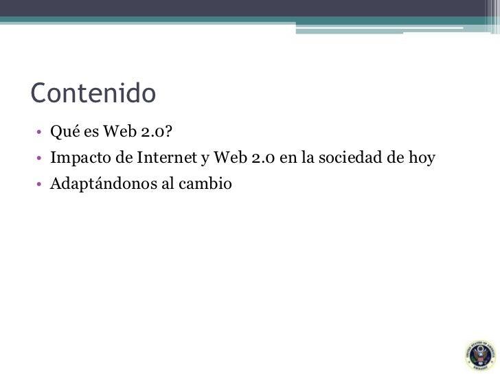 Web 2.0: Acceso al Conocimiento Slide 2