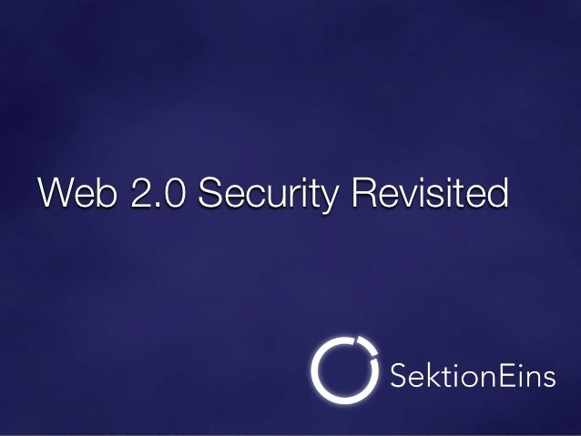 Web 2.0 Security Revisited