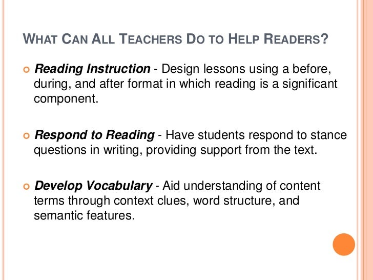 Teaching reading and writing across the curriculum