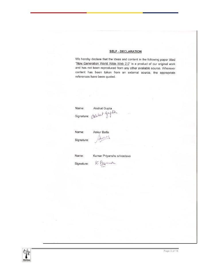 Web 2 0 Technical Paper - Ankur Batla, Akshat Gupta, Kumar