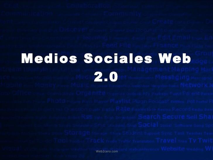 Medios Sociales Web 2.0
