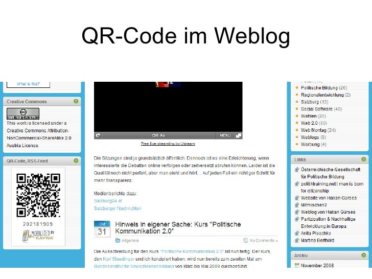 QR-Code im Weblog