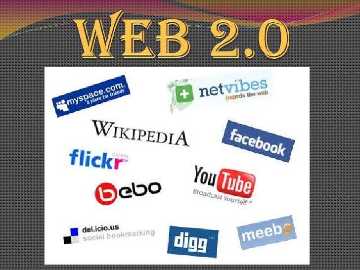 La Web 2.0 es la transición que se ha dado de  aplicaciones tradicionales hacia aplicaciones que  funcionan a través del w...
