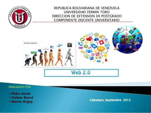 REALIZADO POR Peña Anais Valero Karol Sierra Ergey Cabudare, Septiembre 2013 REPUBLICA BOLIVARIANA DE VENEZUELA UNIVERS...