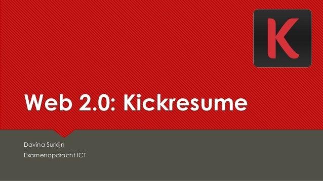 web 2 0  kickresume