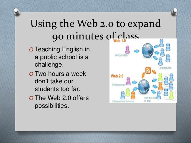 Using the Web 2.0 to expand 90 minutes of class O Teaching English in a public school is a challenge. O Two hours a week d...