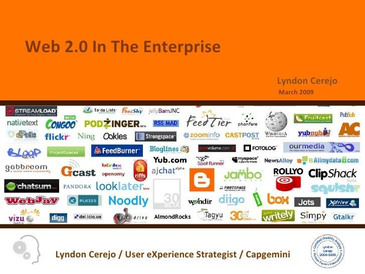 Web 2.0 In The Enterprise March 2009