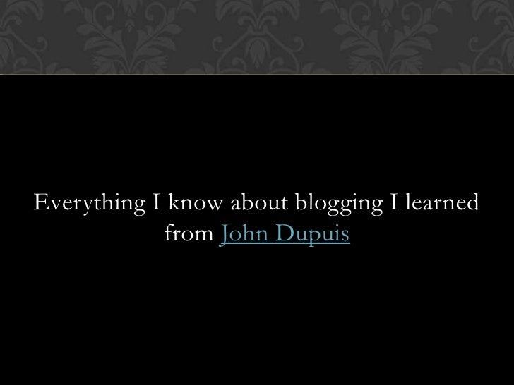 Graham Lavender on blogs and Twitter at Web 2.You 2010 Slide 3