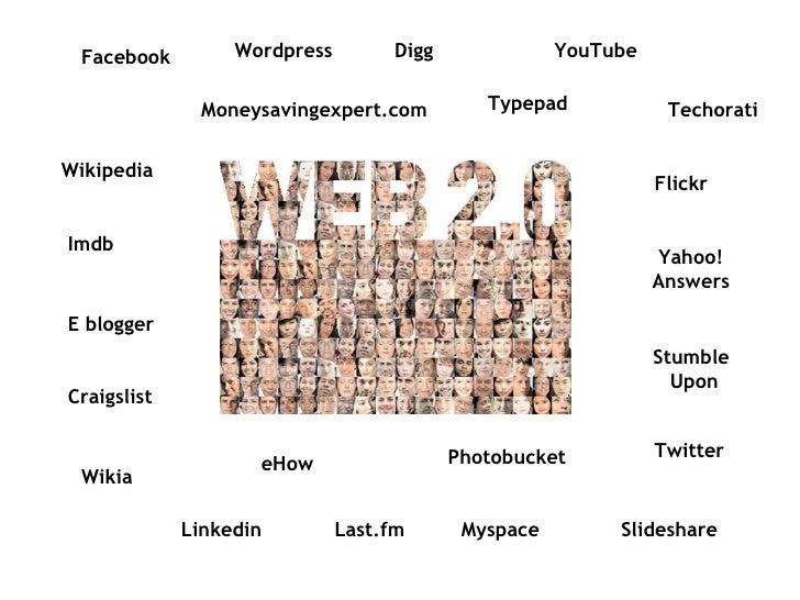 Facebook Wordpress Digg YouTube Typepad Moneysavingexpert.com Techorati Flickr Wikipedia Imdb E blogger Craigslist Wikia e...