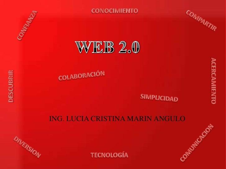 CONOCIMIENTO<br />COMPARTIR<br />CONFIANZA<br />WEB 2.0<br />COLABORACIÓN<br />ACERCAMIENTO<br />DESCUBRIR<br />SIMPLICIDA...