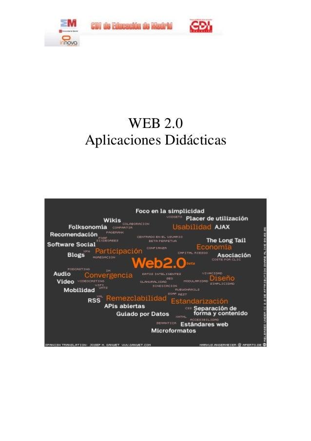 WEB 2.0 Aplicaciones Didácticas