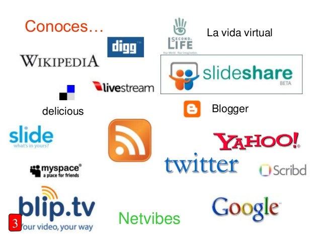 Conoces… delicious La vida virtual twitter Blogger Netvibes3
