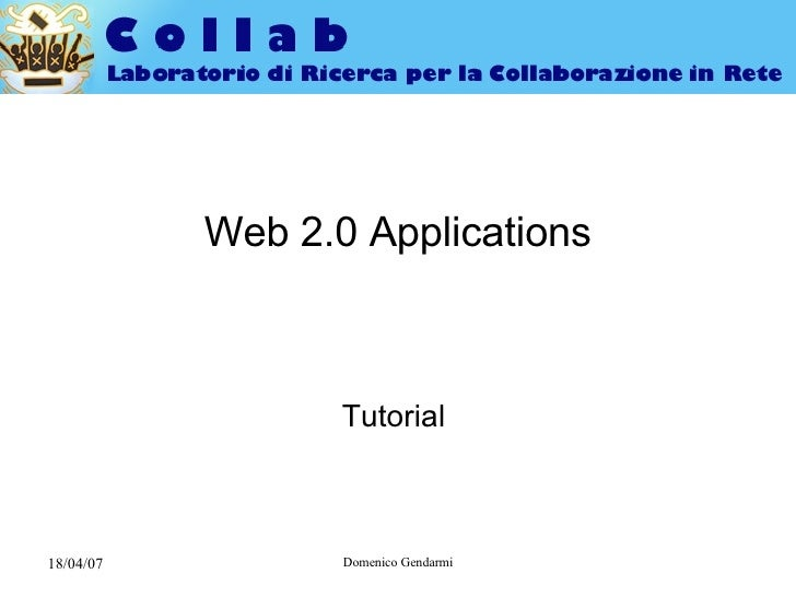 Web 2.0 Applications Tutorial
