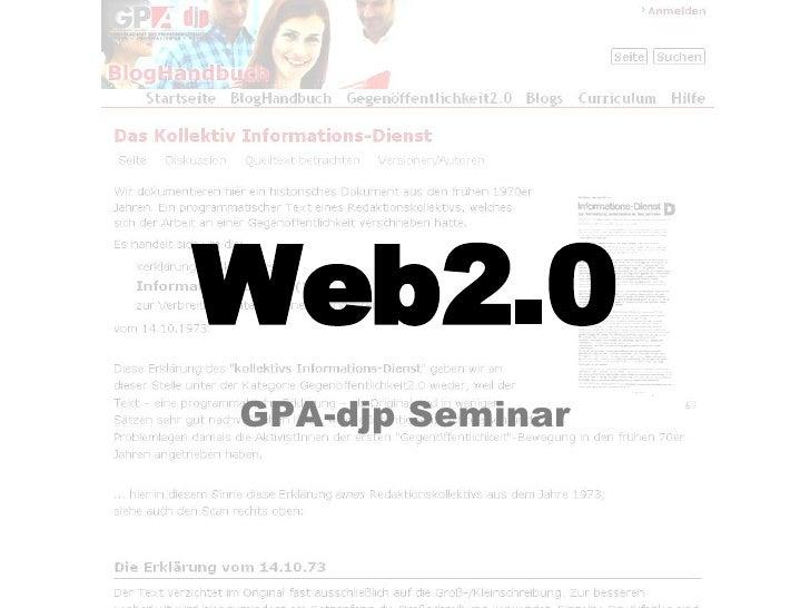 Web2.0 GPA-djp Seminar