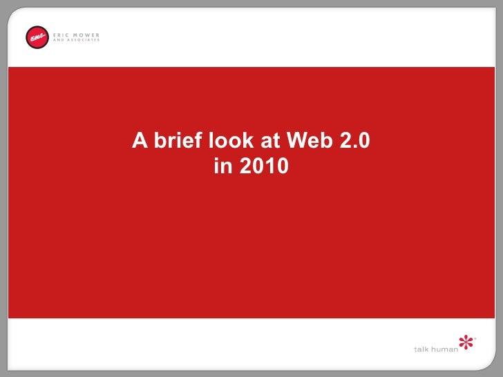 A brief look at Web 2.0 in 2010
