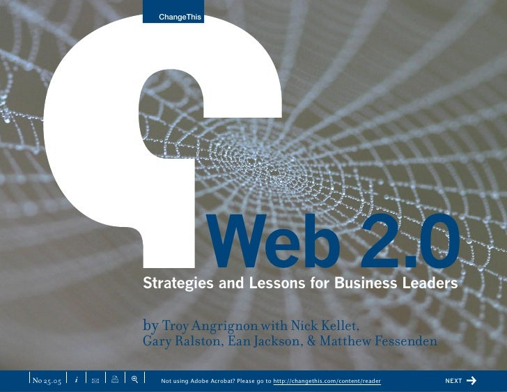ChangeThis                                                Web 2.0                            Strategies and Lessons for Bu...