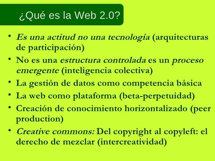 Web 2.0 Presentacion relampago Slide 3