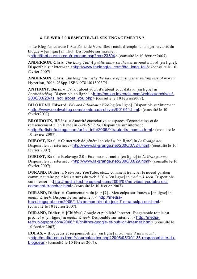 4. LE WEB 2.0 RESPECTE-T-IL SES ENGAGEMENTS ? « Le Blog-Notes avec l'Académie de Versailles : mode d'emploi et usagers ave...