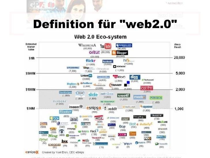 """Definition für """"web2.0"""""""