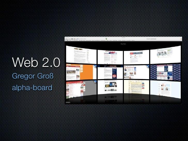 Web 2.0 Gregor Groß alpha-board