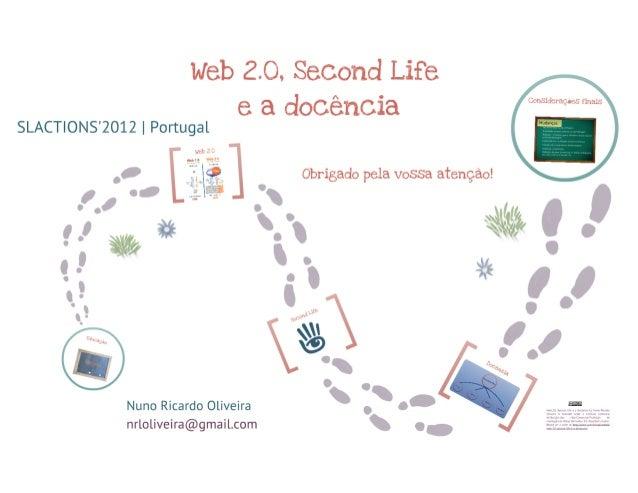 Web 20, sl e a docência