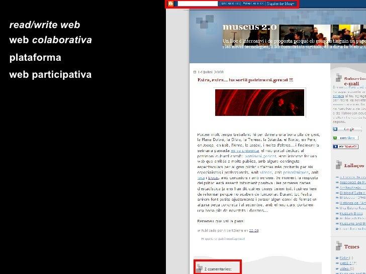 read/write web web  colaborativa plataforma web participativa