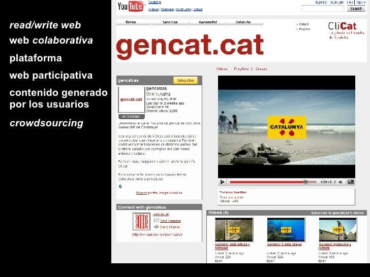 read/write web web  colaborativa plataforma web participativa contenido generado por los usuarios crowdsourcing
