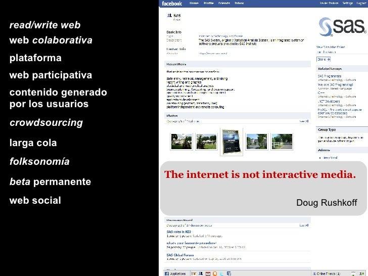 read/write web web  colaborativa plataforma web participativa contenido generado por los usuarios crowdsourcing larga cola...