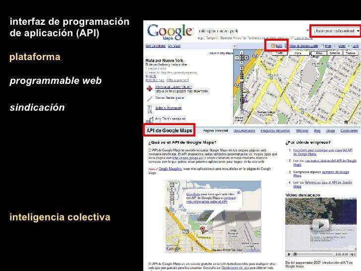 plataforma inteligencia colectiva interfaz de programación de aplicación (API) programmable web sindicación