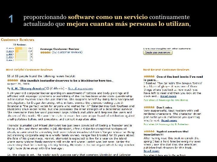 proporcionando  software como un servicio  continuamente actualizado que  mejora cuantas más personas lo utilizan , 1