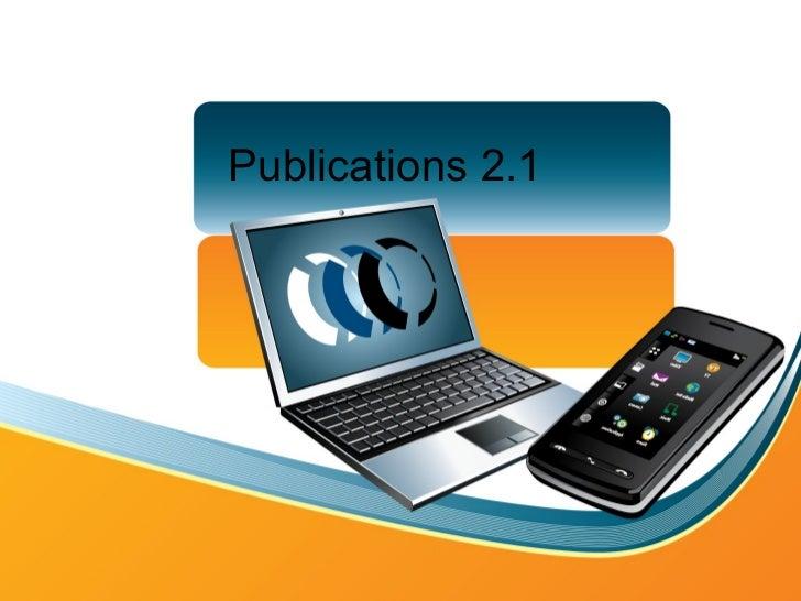 Publications 2.1