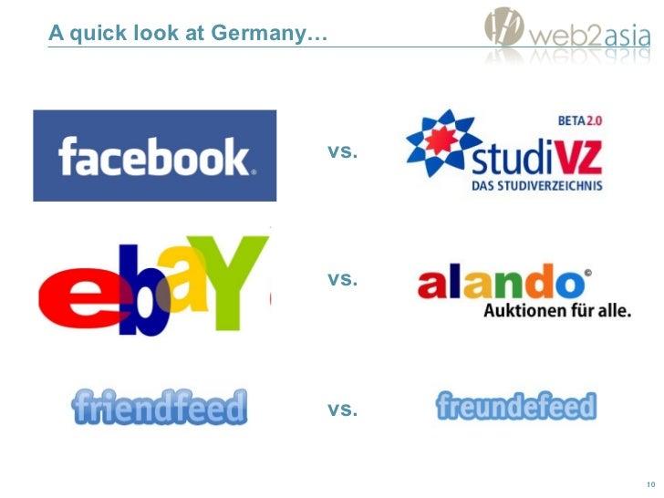A quick look at Germany… vs. vs. vs.