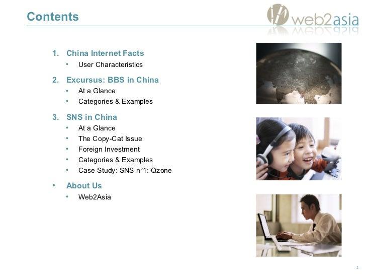 Contents <ul><li>China Internet Facts </li></ul><ul><ul><li>User Characteristics </li></ul></ul><ul><li>Excursus: BBS in C...