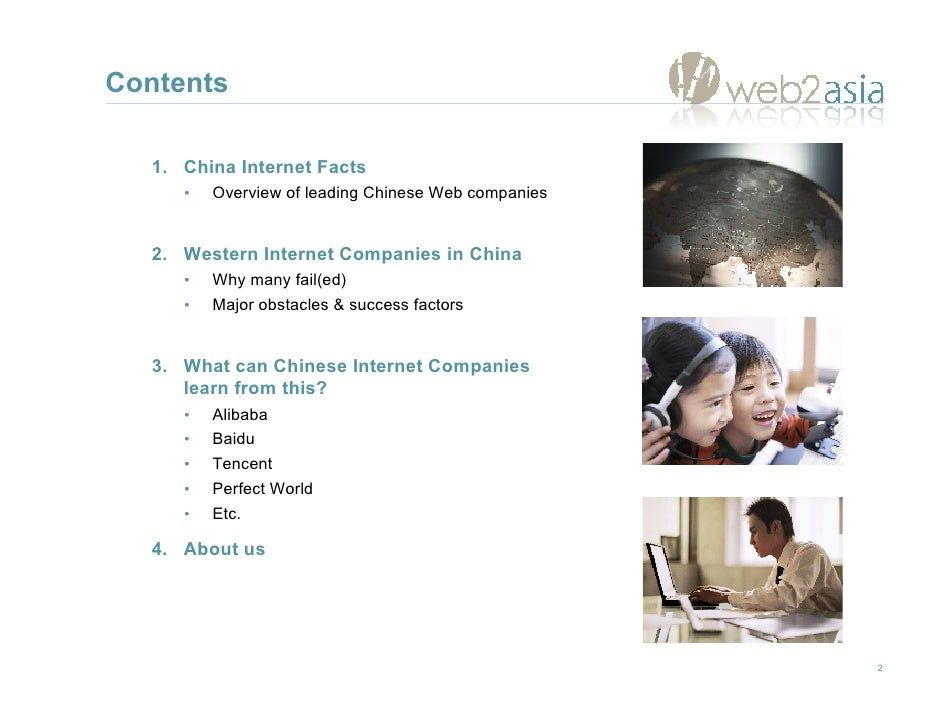 Western Internet Companies in China & Chinese Internet Companies in the World Slide 2