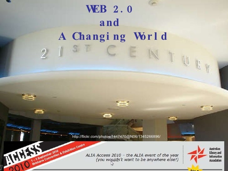 Web 2.0 and a Changing World