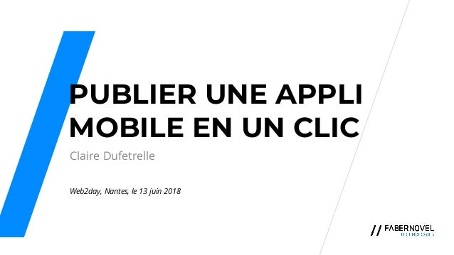 Publier une application mobile en un clic