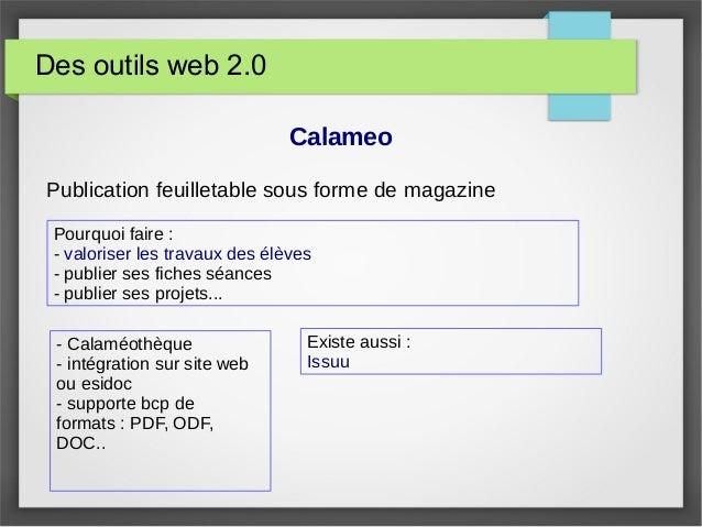 Des outils web 2.0 Calameo Publication feuilletable sous forme de magazine - Calaméothèque - intégration sur site web ou e...
