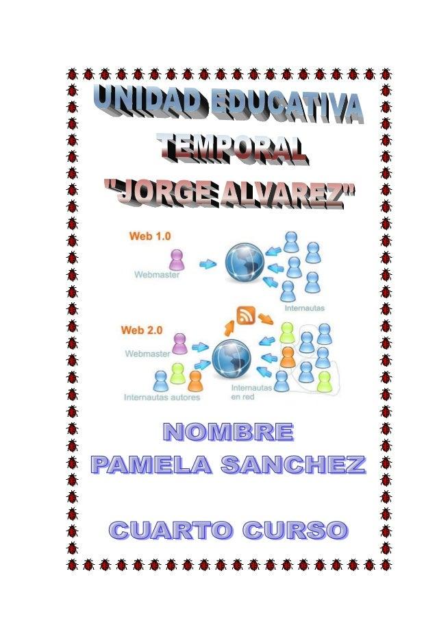 """¿QUÉ ES LA WEB 2.0?  Web, es una palabra de origen inglés la cual traducida al español quiere  decir """"telaraña"""". La web, p..."""