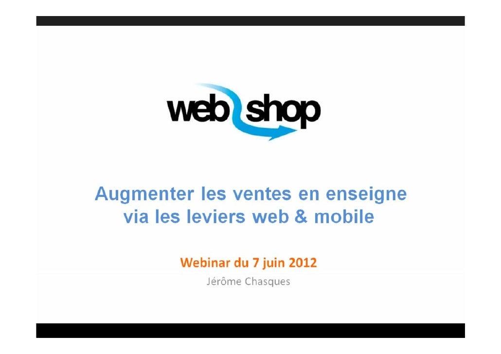 Le Web-to-Store par Jérôme Chasques
